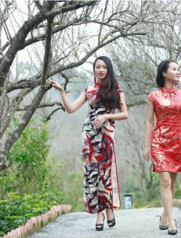 姐妹花——浦北越州天湖梅花初放人像摄影