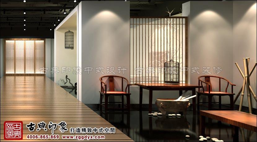 现代中式设计风格展厅图片
