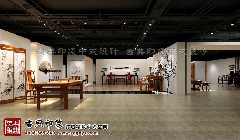 现代中式设计风格展厅 大雅的古典印象作品