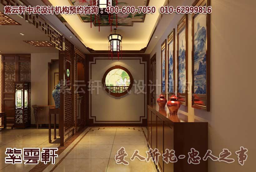 简约中式别墅玄关装修效果图