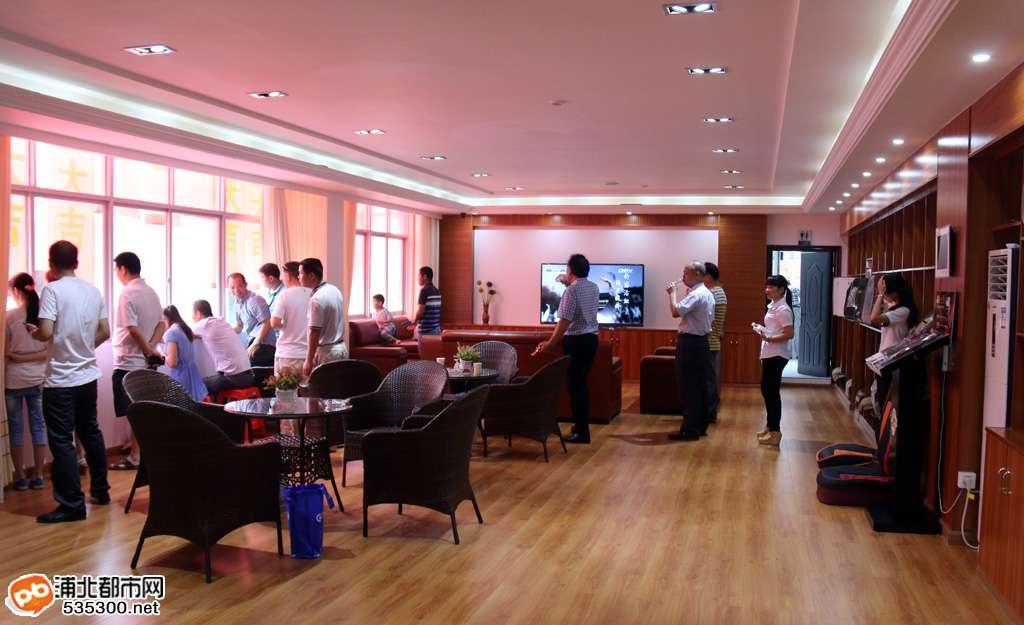69 廣信汽修今日盛大開業 首家大型汽修廠落戶浦北  2樓客戶休息室