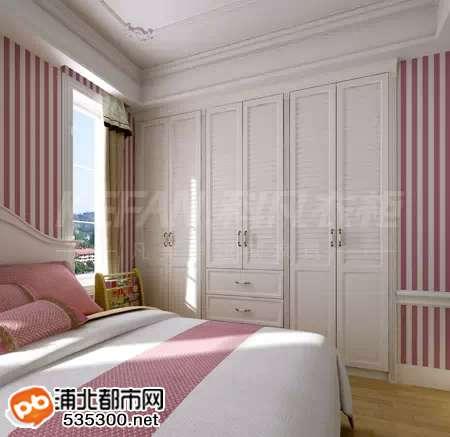 《欧陆风尚-公主房一体柜》白木+经典白木包覆铝框门