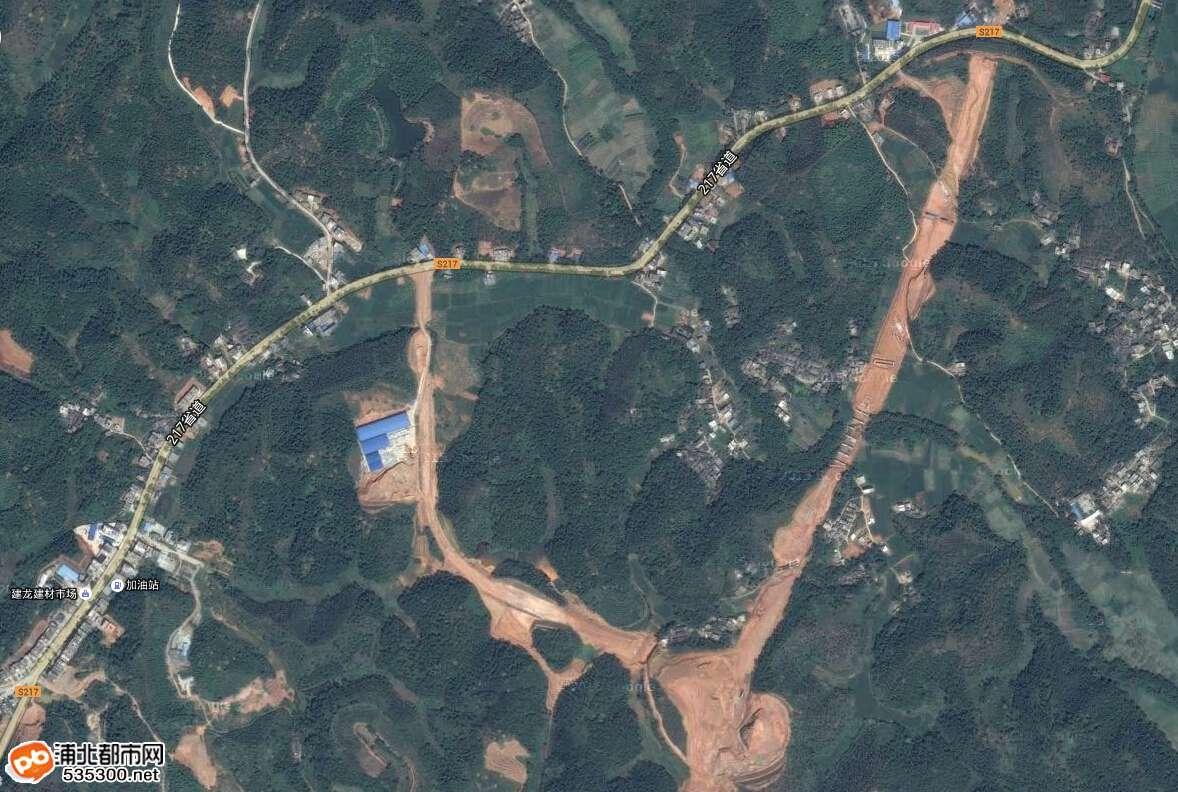 浦北卫星地图