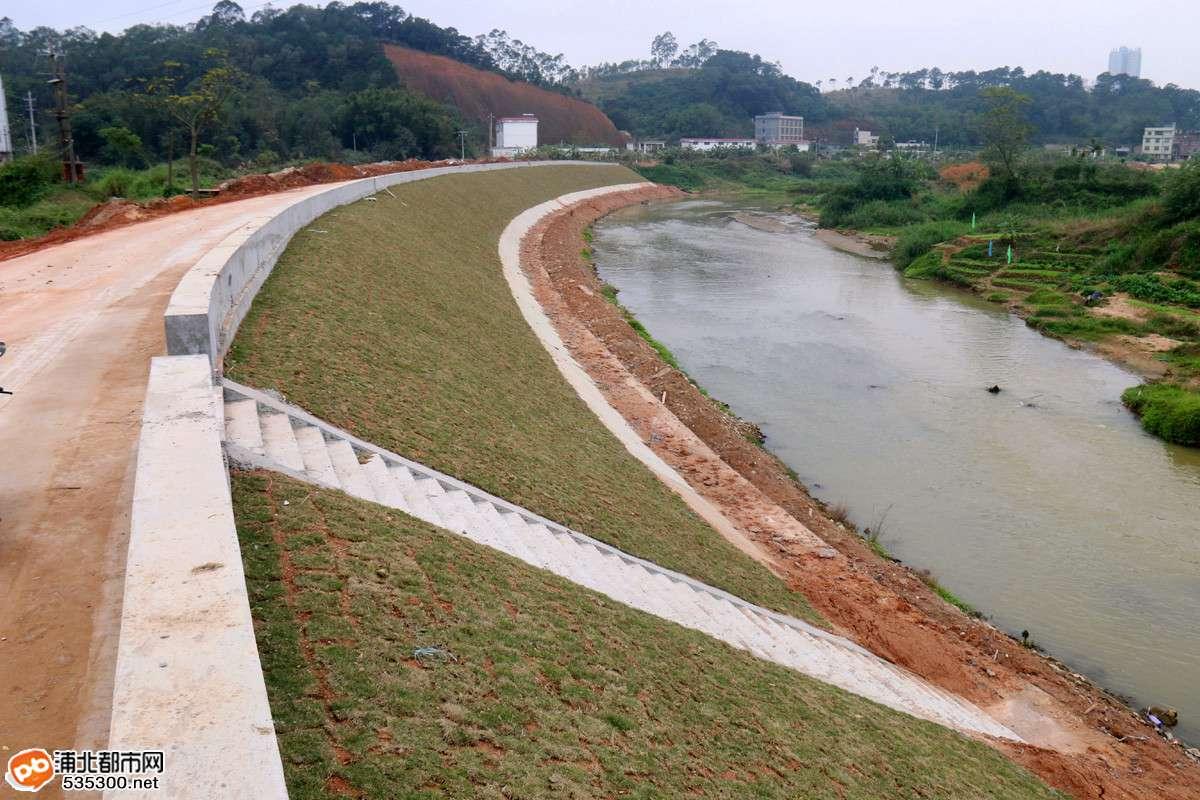 防洪标准为10年一遇洪水设计标准.建设主要内容:新建防洪堤2.