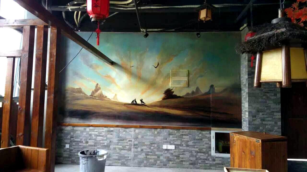 餐厅手绘壁画