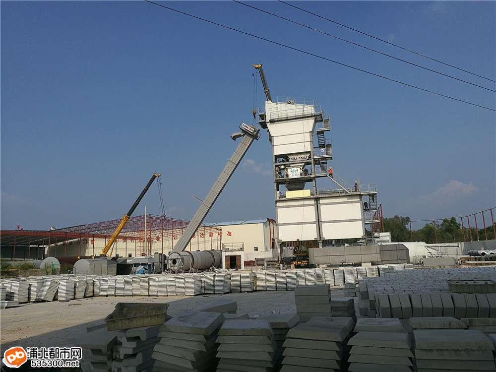 贵合路面№E合同段沥青站顺利落成,为备料生产做准备