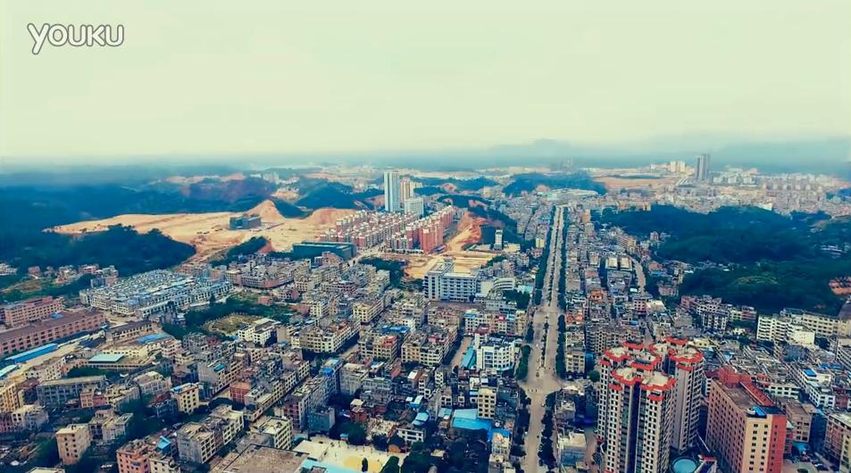 浦北又一网友发布县城最新航拍,无人机已成摄影主流?