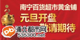 南宁百货浦北店开业在即!超市黄金铺100元预约火爆开启!