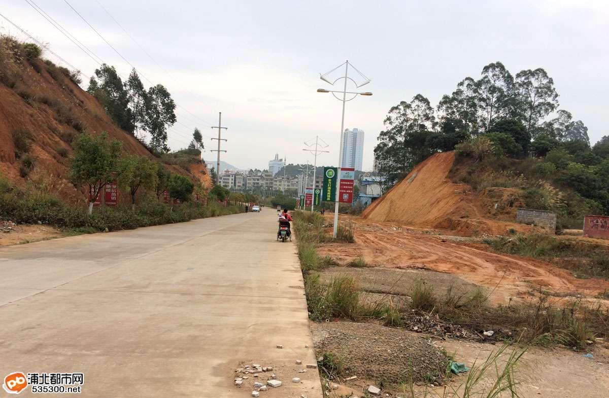 浦北越州大道延长线的断头双行道终于要开铺了