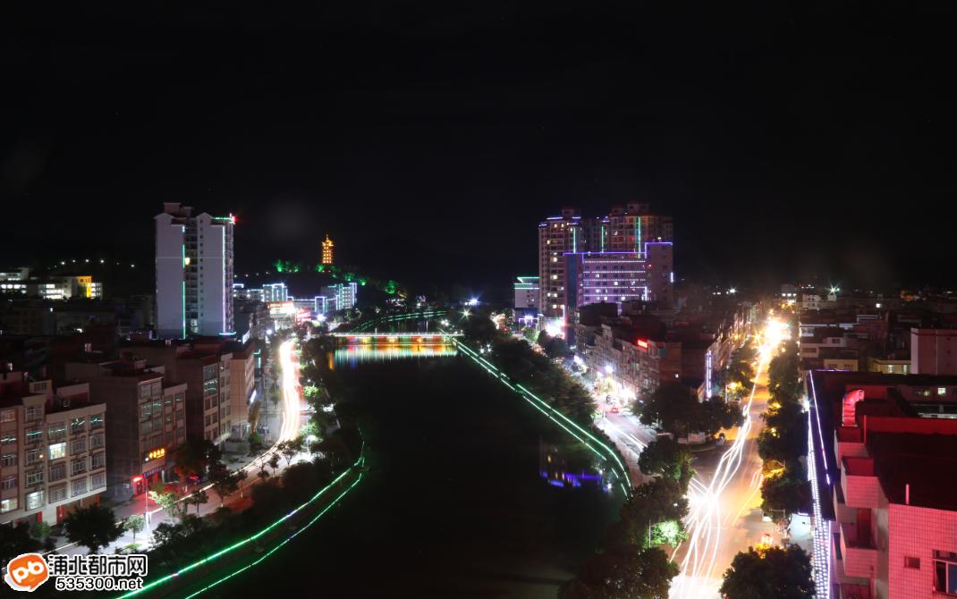 浦北县城夜色