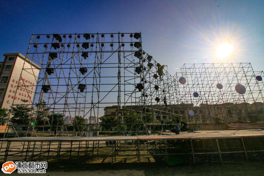 2017浦北旅游文化节大型晚会将开幕,现场布置抢先看