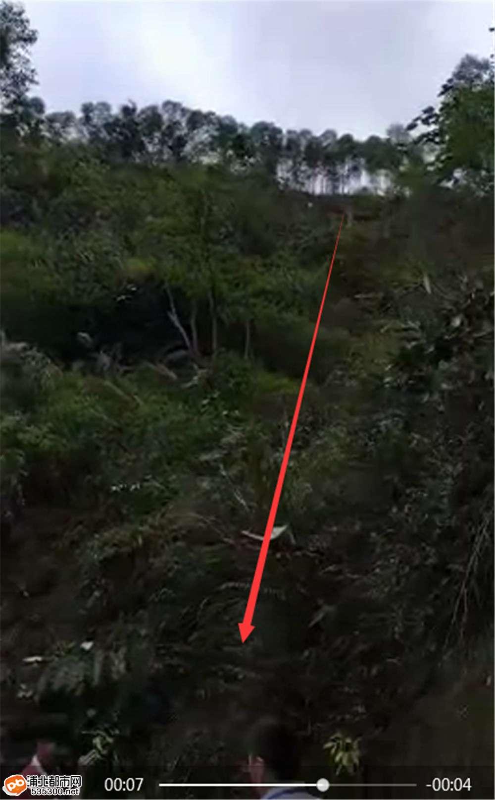 小江和平一小轿车翻落30几米高山崖,车上人员均已...