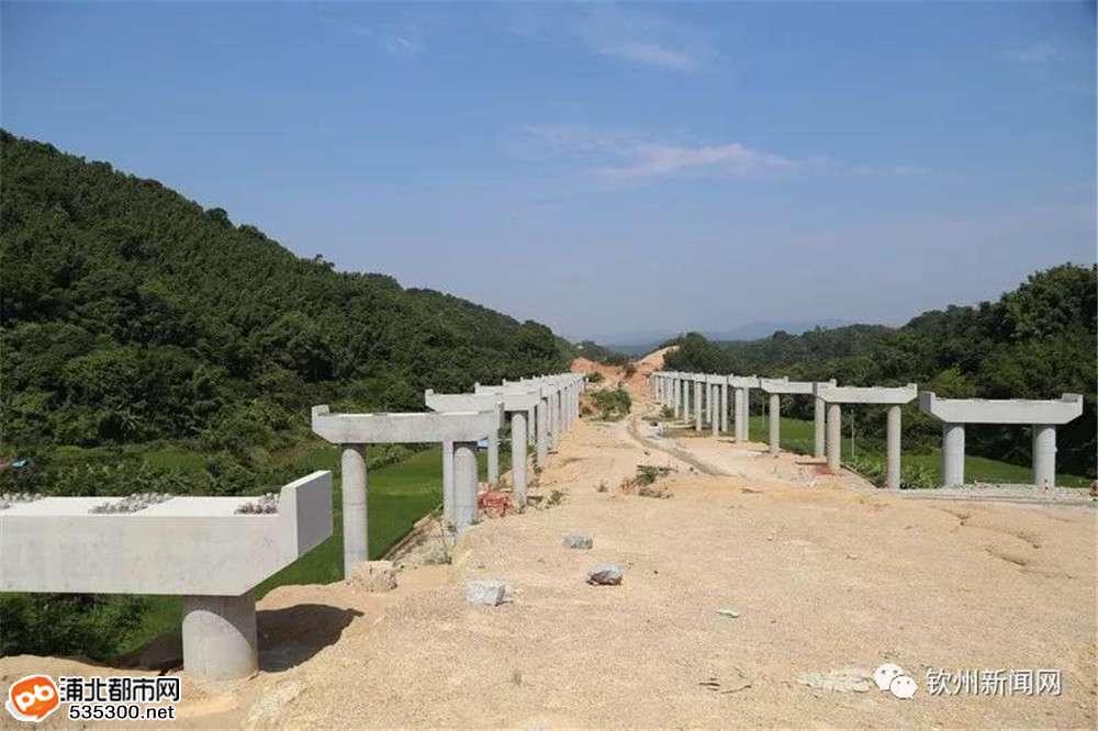 大浦高速公路快速推进已建成这样,明年有望建成全面通车