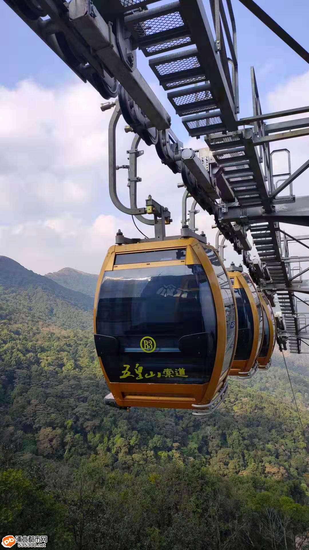 抢先体验!坐缆车穿梭在五皇山云里雾里,你想试试吗?