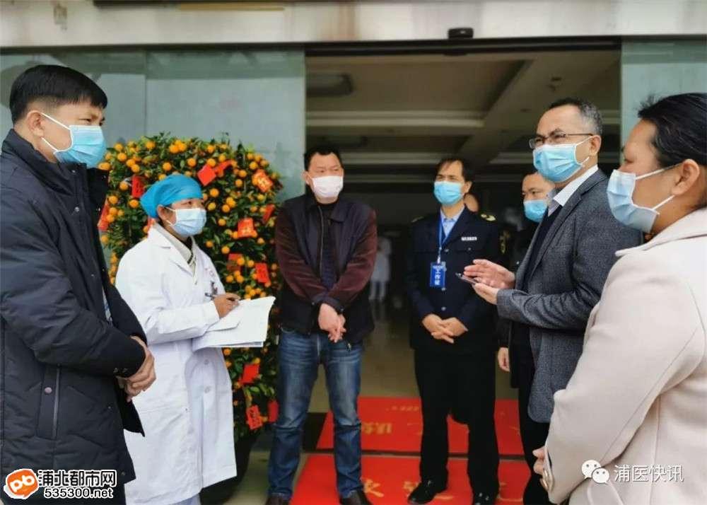 浦北县卫生健康局组织相关卫生部门到乡镇酒店、医院督查疫情防控工作