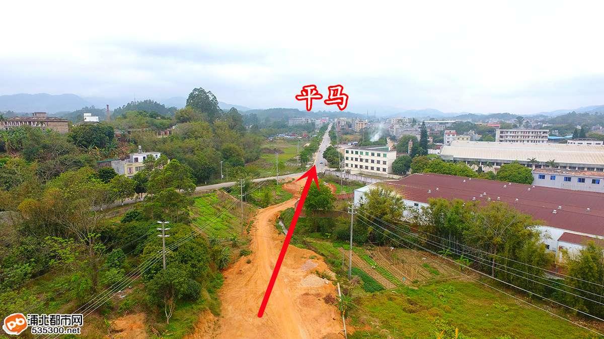 航拍!浦北东绕城路直通平马项目建设最新进展首曝光