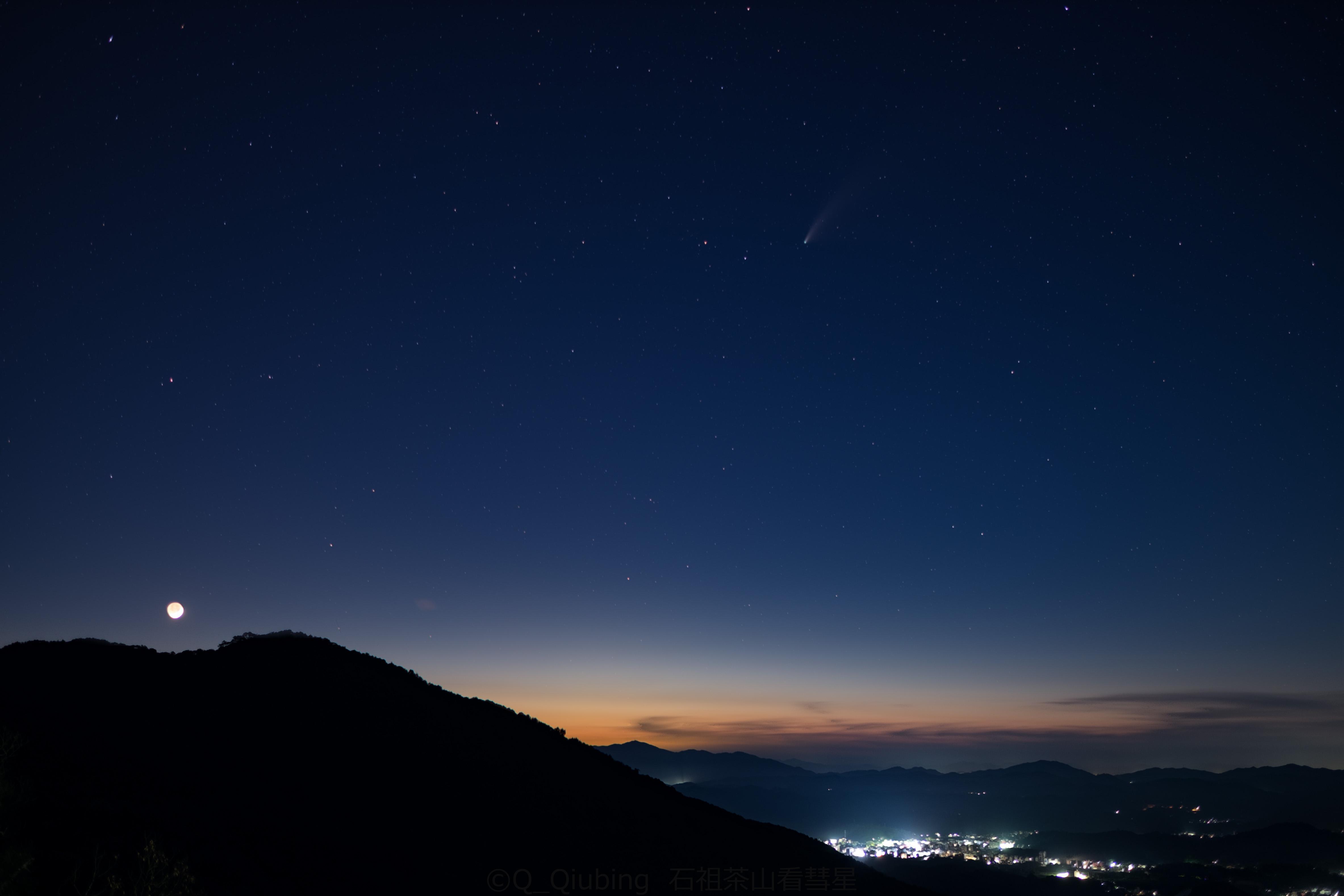 彗星和峨眉月的合影.jpg