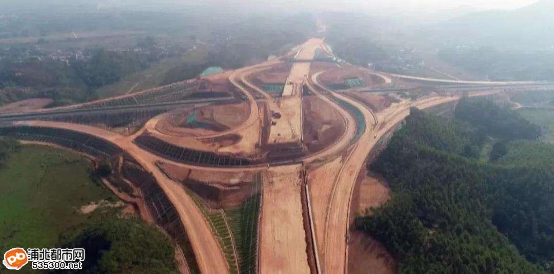 浦清高速6标段大桥枢纽互通主线4号桥下构全部完成