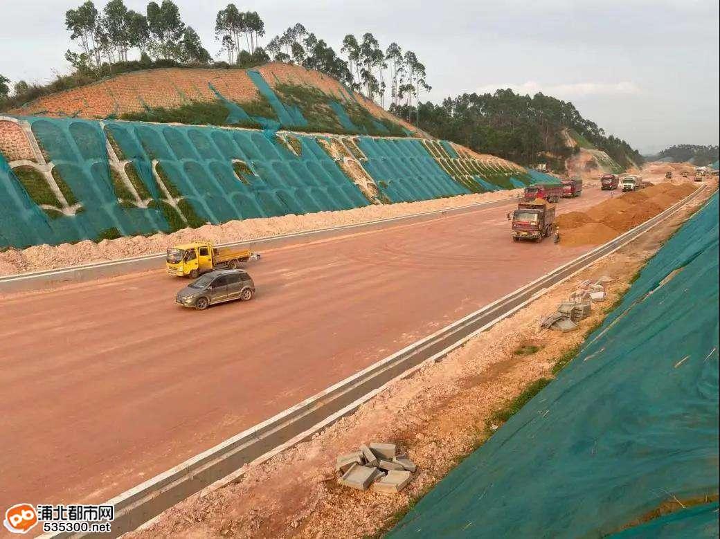 浦清高速六、七标段最新进度,王月隧道顺利贯通